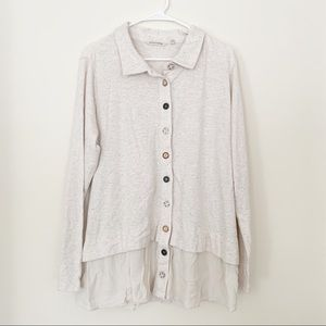Soft Surroundings Button Sweater Top